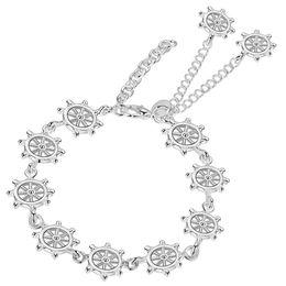 Wholesale Fish Cuff Bracelet - Wholesale- silver plated Fashion snake 8 mm Width bracelet bangle Jewelry trendy men women bracelets PS610