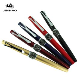 Wholesale China Red Dragon - Jinhao China Red Dragon Carving Fountain Pen with 0.38mm Nib Free Shipping
