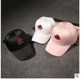 chapéus de flores por atacado para homens Desconto Atacado-Shevipshe verão Rose Dad Hat Drake Sanpback flor bordado curvo Snapback bonés de beisebol mulheres homens Trapback Hip Hop osso do chapéu