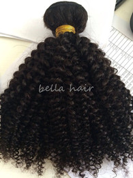 Wholesale Indian Remy Curls - Remy Hair Brazilian Hair 8A Kinky Curl 10-24 inch Indian Hair Bundles Malaysian Cambodian Peruvian Virgin Hair Free Shipping Bella Hair