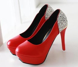 Wholesale Women S Black Pumps - The spring and autumn period and the han edition 2016 high-heeled shoes women's shoes with ultra fine round head sequins with waterproof s