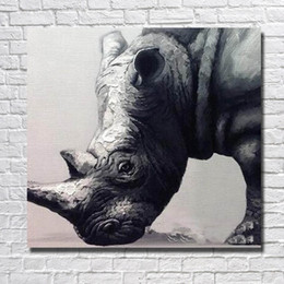 Wholesale Cheap Framed Oil Paintings - Hand painted large size cheap wial animal oil painting pictures no frame modern home decor abstract canvas art