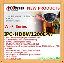 Wholesale Dahua Mini Dome - Free shipping Dahua Wi-Fi Series Original English Firmware 2MP Full HD Wi-Fi IR Mini Dome Camera IPC-HDBW1200E-W