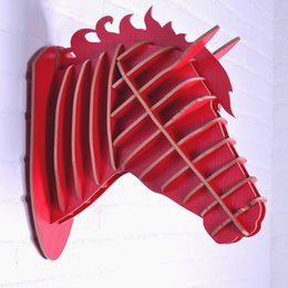 Wholesale Country Wooden - American country style home decor,3D wooden horse head,cowboy home,bar & restaurant decoration,wood carving,wood crafts ornament