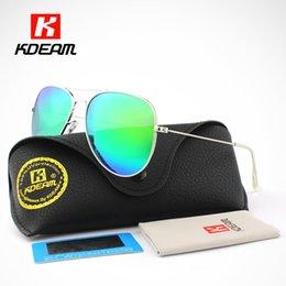 Wholesale uva uvb sunglasses - Wholesale- Pilot Sunglasses Men Polarized G15 62' Lens Large Sun Glasses Polaroid UVA UVB Sunglass gafas de sol With Case