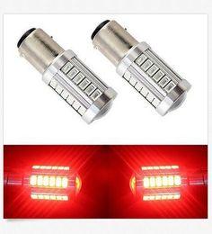 Wholesale 12v 1142 - 50PCS BAY15D 1157 1142 Car Tail Stop Brake Light 5730 33 SMD LED Bulb 12V DC wholesale price