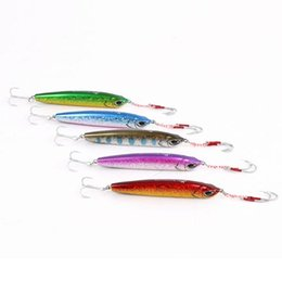 Wholesale Jigs For Fishing Wholesale - mix color Lead fish artificial bait fishing lure high quality jigs MUSTAD hook for sea fishing four colors (33g pcs 5pcs lot)