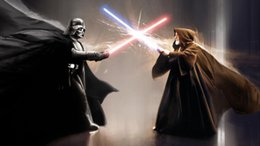 Wholesale Star Wars Duel Art HD Art Print Original Oil Painting on Canvas high quality for home wall decor Multi size Framed