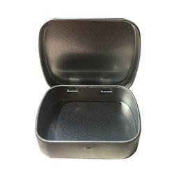 Wholesale Square Tin Boxes - 60x45x15mm hinge tin box square tin silver gift box sealing plain tin wedding candy boxes wen4776