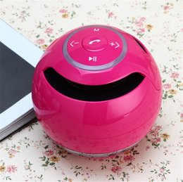Wholesale Round Radio - Bluetooth Speaker Hands-free Phone Wireless Bluetooth Speakers TF Card Round Bass Cannon Outdoor Indoor Portable Mini Speakers