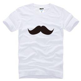Wholesale Red Black White Mustache - WISHCART bearded mustache Printed funny spoof creative T Shirt Mens Men T-shirt 2016 100% Cotton Tee Camisetas Hombre Tshirt