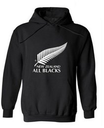 Wholesale Thin Hoodie Male - 2017 New men brand New Zealand all black hoodies rugby jerseys sweatshirt male hooded sports clothing