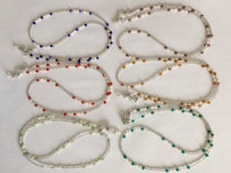 Wholesale Eyeglasses Chains - 6 pieces lot assorted colored fresh water pearl and glass beaded eyeglass necklace chain retainer holder