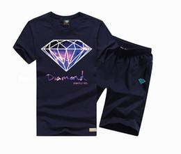 Wholesale Cool Designs Shirts - Summer Fashion Diamond Supply Co Men's t shirts Black white Cool diamond supply tshirt Unique Design Short Sleeve suit