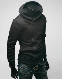 Wholesale Mens Creed Jacket - Assassin's Creed Mens Slim Fit Oblique Zipper Jackets Stand-up Collar Hoodie Coats