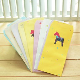 Wholesale Free Scrapbooking Papers - Wholesale- 25 pcs lot Paper Envelope Cute Crazy Pony Design Envelopes Vintage Korean Style For Card Scrapbooking Gift Free Shipping 03201