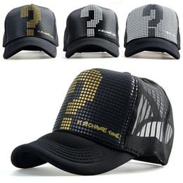 Wholesale Truck Print - 2016 new Snapback mesh baseball outdoor summer sports hat trucker cap men net cap hiphop Sunbonnet hat for women truck unisex