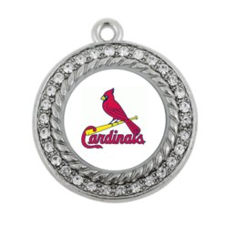 Wholesale NEW Baseball St Louis Cardinals SPORT team charm antique silver plated crystal jewelry
