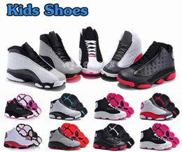 Wholesale Child Leather Shoes - 2016 New Retro 13 Kids Shoes Children J13s Basketball Shoes High Quality Sports Shoes Youth Sneakers For Sale Size: US11C-3Y EU28-35