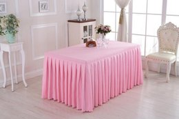 Wholesale Table Skirts Wholesale - Table Cloth Solid Color Table Cover Table Skirt Wedding Party Meeting Decor Hotel Tables Cloth 30 p
