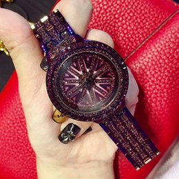 Wholesale Glasses Ends - Mashali Purple Fashion running stylish Durable High-end Luxury Personalized Stainless Steel Strap Ladies Watch Women Watches