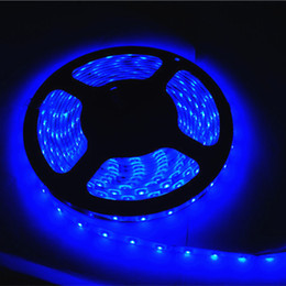 Wholesale 5w Single Led - DC3V LED Flexible Strips Light 3528SMD 60LEDs 4.8W 5MRoll Single Color Red Green Blue Bare Decorations Clothes Shoes Bike Hat Direct China