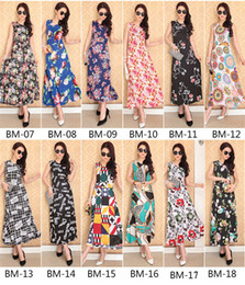 Wholesale Sleeveless Casual Dress Price - Low price Floral Print Women Summer Beach Long Women Floral Beach Long Dress beach dress sexy sleeveless casual long chiffon dress