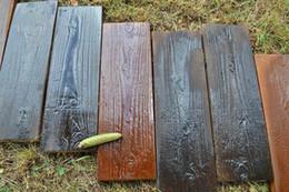 Stampi per pietre online-2 Pezzi / Set Stampi Antiche Tavole in legno Stampo in calcestruzzo Giardino Percorso di pietra Percorso in mattoni a forma di cortile Decorazione fai da te