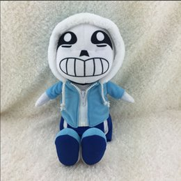 "Wholesale Plush Bear Blue - doll boy Hot Sale New Color Blue 30cm 12"" Undertale Plush Sans Papyrus Toys Animation Plush Dolls For Kids Christmas Gift Free Shipping"