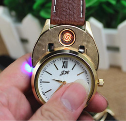 Wholesale Watch Lighters Sale - Electronic cigarette lighters Wrist Watch Lighter Windproof USB Charge lighter Creative wristwatches Lighter With gift box Packing sale
