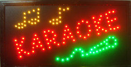 Wholesale Indoor Led Neon Lights - 2016 LED Karaoke Neon Light Sign with Animation montion and Power Switch Indoor Use Free Shipping