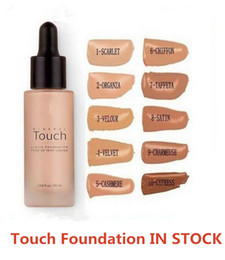 Wholesale Firm Face Cream - Waterproof Touch Mineral Liquid Foundation 20ml Professional Makeup Foundation Face Concealer Liquid 10 Colors DHL Free