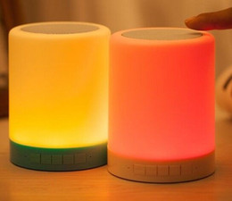 Discount small white led battery - Wireless Bluetooth Speaker color induction lamp colorful small night light USB charging Bluetooth stereo subwoofer