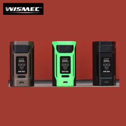 Wholesale Original Powers - Authentic WISMEC Reuleaux RX2 20700 200W Mod with Huge 1.3-inch OLED Display Powered by 20700 and 18650 Cells 100% Original