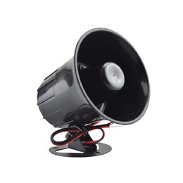 Wholesale Home Theft Alarm - Anti-theft Alarm Horn DC 12V Wired Loud Alarm Siren Horns Outdoor With Metal Bracket For Home Security Protection System ES-626