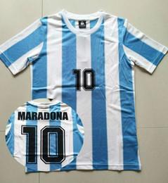 Wholesale Classic 78 - 86 Argentina Retro Soccer Jersey Maradona 1986 Vintage Throwback Classic 78 Argentina Maradona 1978 Football Shirts