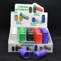 Wholesale Metal Makers - Plastic N2O Cream Whipper cracker colorful cracker cream whipper smoking gas mix colors also have metal Cream Whipper