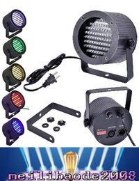 Wholesale Led 86 25w - Professional LED Stage Light 25W 86 RGB LED Light DMX Lighting Laser Projector Stage Party Show Disco US Plug AC 90-240V MYY37