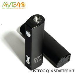 2019 baterias fáceis Original Justfog Q16 Starter Vape Kit Cigarro Eletrônico com 900 mah vv J-easy bateria 1.9 ml Q16 Clearomizer VS Ijoy Capitão PD270 desconto baterias fáceis