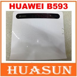 Wholesale huawei wi fi - DHL EMS free shipping Unlocked Huawei B593 CPE 4G LTE FDD wifi Router 100Mbps with 4 LAN port free shipping