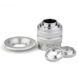 Wholesale Eos Adapter - 50mm f 1.4 CCTV Lens for Canon EOS M + C Mount to Micro 4 3 Adapter+Macro Ring