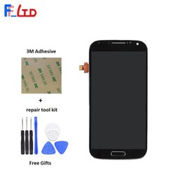 Wholesale S4 Panel - High Quality AAA for Samsung Galaxy S4 i9500 i9505 i545 i337 LCD Display Digitizer Touch Screen with Frame Assembly Replace 100% Tested