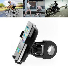 Wholesale mobile phone mount motorcycle - New Car Motorcycle Bike Handlebar Mobile Phone Mount Holder Stand with Safety Rope Universal Fit for Smartphone Cycling GPS Navigation