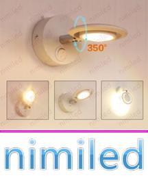 Führte gemälde online-Nimi980 5 Watt Moderne Minimalistische Aluminium LED Wandleuchte Schlafzimmer Nachttischlampe Leseleuchten Beleuchtung Korridor Rotary Mit Schalter Gemälde Lampen