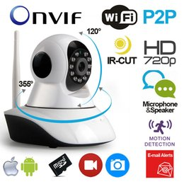 Wholesale Security Mobile Camera - Night Vision Security IP Cameras 720P P T camera Mobile Viewing Smart Link Wireless IP Camera