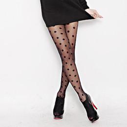 Donne polka dot strette online-Calze da donna Calze di seta a pois classiche. Calze Tatuaggi vintage a punto tondo, calze a collant, calze da donna. Colori 2