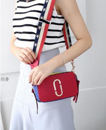 Wholesale Square Jelly - Female bag 2018 new European and American small square mini bag double color wide shoulder strap bag shoulder Messenger