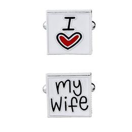 Gemelos de moda de boda Letras creativas amantes de