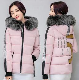 Wholesale Bamboo Lady Wear - Fake fur collar Parka down cotton jacket 2016 Winter Jacket Women thick Snow Wear Coat Lady Clothing Female Jackets Parkas
