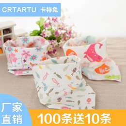 Wholesale Towel Factory Outlet - 2016 factory outlet cotton bibs double triangle children snap cotton towel 5 pcs for sales randomly delivered A022104